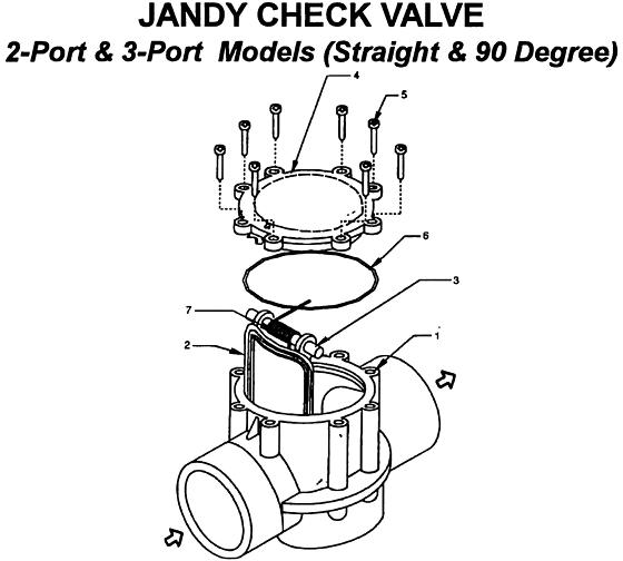 JANDY #7305 CHECK VALVE 2