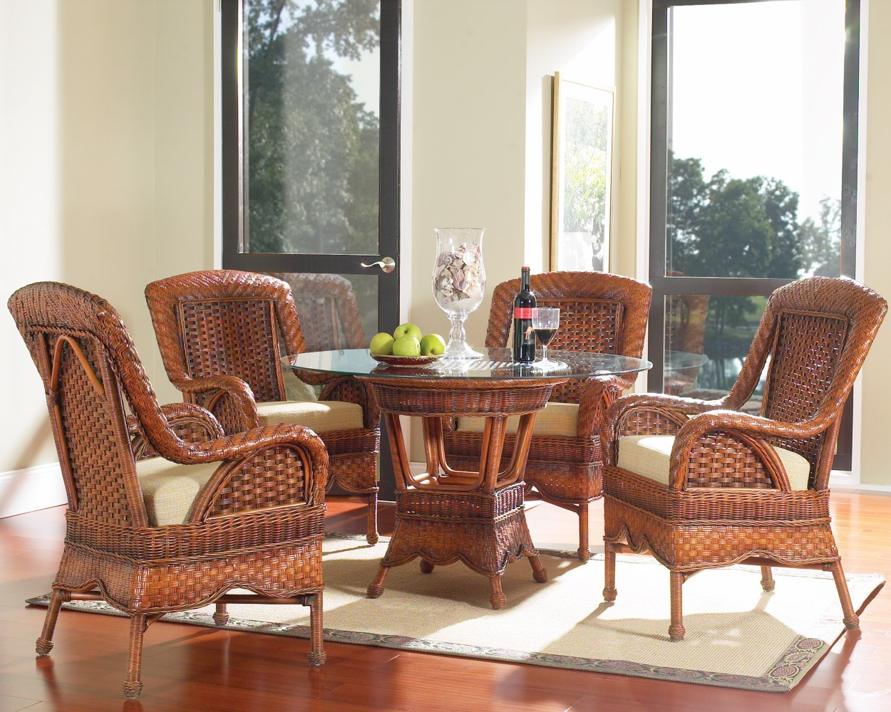 wicker living room sets used furniture sale south sea rattan autumn morning indoor dining set image 1