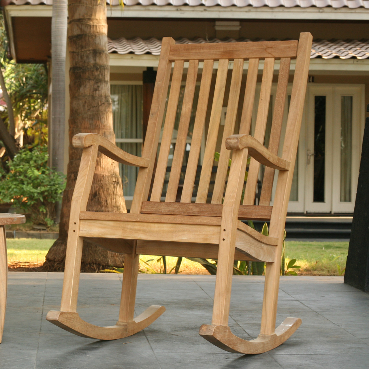 Outdoor Rocking Chair Set Tortuga Outdoor Jakarta Teak Rocking Chairs Set Of 2
