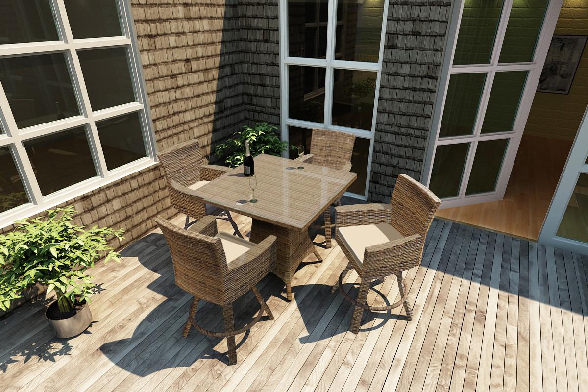 forever patio 5 piece barbados 36 square pub table set