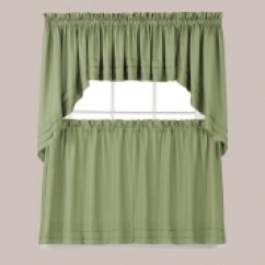 Swag Kitchen Curtains Pre Built Outdoor Islands Tiers Swags Valances Lace Holden Solid Sage Green