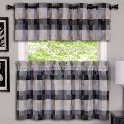 Grommet Kitchen Curtains Aid Pro Harvard Black Linens4less Com Top