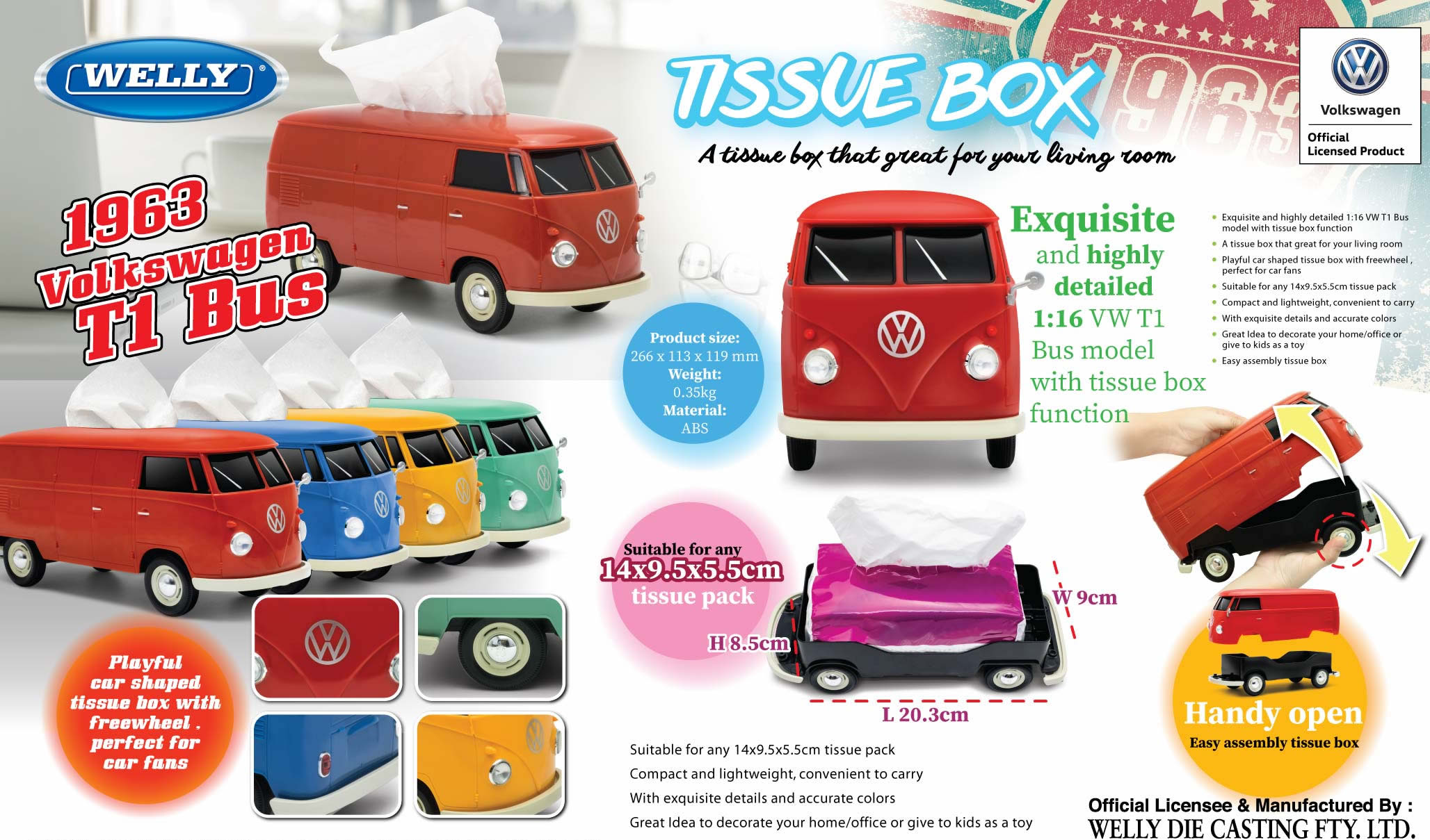 available now in either red or blue colour see on our website at vw camper van tissue box holder [ 2056 x 1209 Pixel ]