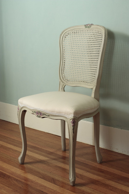dining chairs with caning how to recover room piping louis xv laurel crown furniture