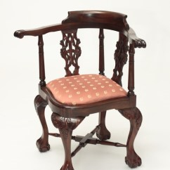 Wooden Corner Chair Canopy Chairs Best Price Antique Chippendale Laurel Crown Furniture