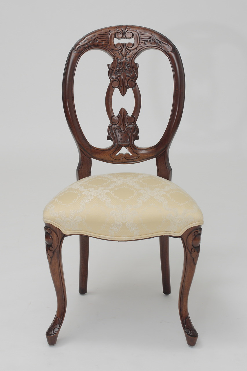 Damask Dining Chair Medallion Back Dining Chairs