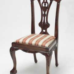 Chippendale Dining Chair Card Table And Chairs Set Mahogany Ball Claw Laurel Crown Furniture Image 1