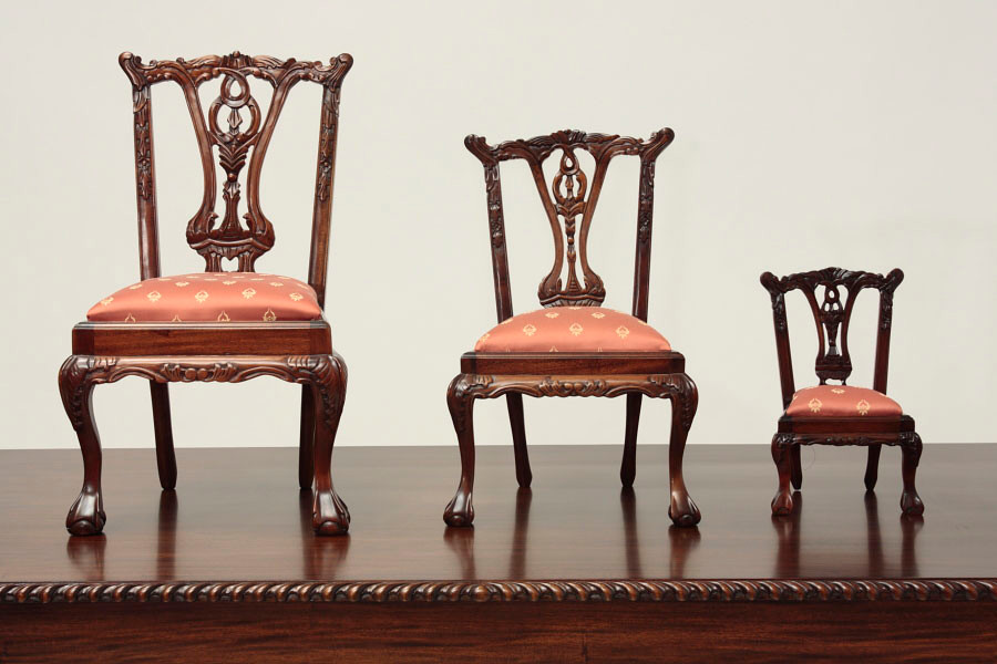 chair 1 2 wingback chairs canada miniature chippendale side with ball and claw feet 3 scale