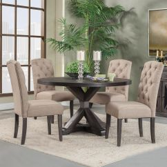 Rustic Dining Table And Chairs Rocking Chair Accessories Fall Trend Sets Www Efurniturehouse Com Alpine Round
