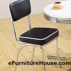 Retro Chrome Chairs Nursery Rocking Chair Wayfair Two 50 S Style Black Dining
