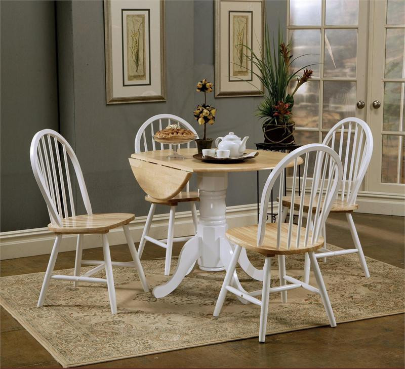 drop leaf kitchen table and chairs modern outdoor round butcher block w small tables