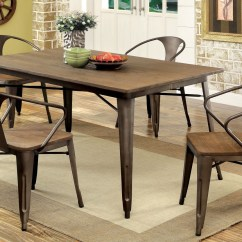 Small Kitchen Tables And Chairs Stone Outdoor Coachella Industrial Natural Elm Dining Table Set 4 Stylish With