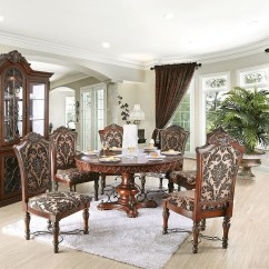 Round Living Room Set Red Couch Photos 60 Geneva Brown Cherry Formal Dining For 6 Shown With Buffet Hutch