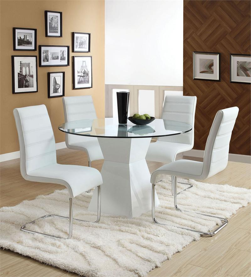 white round kitchen table with bench seating 45 lynelle glass top dining base set