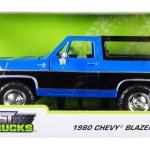 1980 Chevrolet Blazer K5 Blue Black Just Trucks 1 24 Diecast Model Car Jada 31598