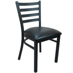 Cafe Chairs Metal Patio Chair And Ottoman Advantage Black Ladder Back Restaurant Image 1