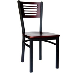 Metal Restaurant Chairs Fisher Price Space Saver High Chair Bfm Seating Espy Black Slotted Wood Back With Image 1