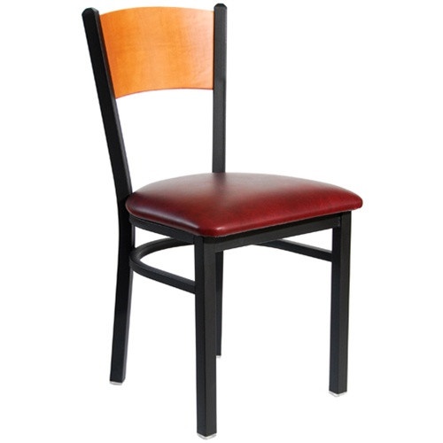 metal restaurant chairs folding victorian chair bfm seating dale black solid wood back with image 1