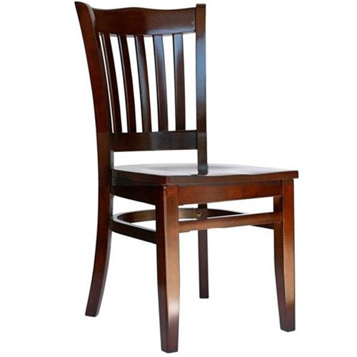 wooden restaurant chairs patio sling chair bfm seating princeton walnut wood school back with seat image 1