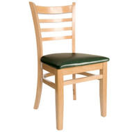 wooden restaurant chairs folding chair orange furniture indoor bfm seating burlington natural wood ladder back wc101ntv