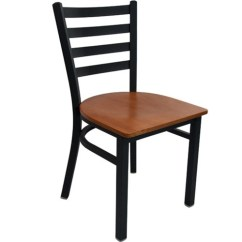 Metal Restaurant Chairs What Is The Best Office Chair Advantage Black Ladder Back Rclb Bfcw Image 1