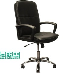 Leather Executive Office Chair Hanging Birdcage High Back Black Chairs With Chrome Base Kb 3003 Swivel
