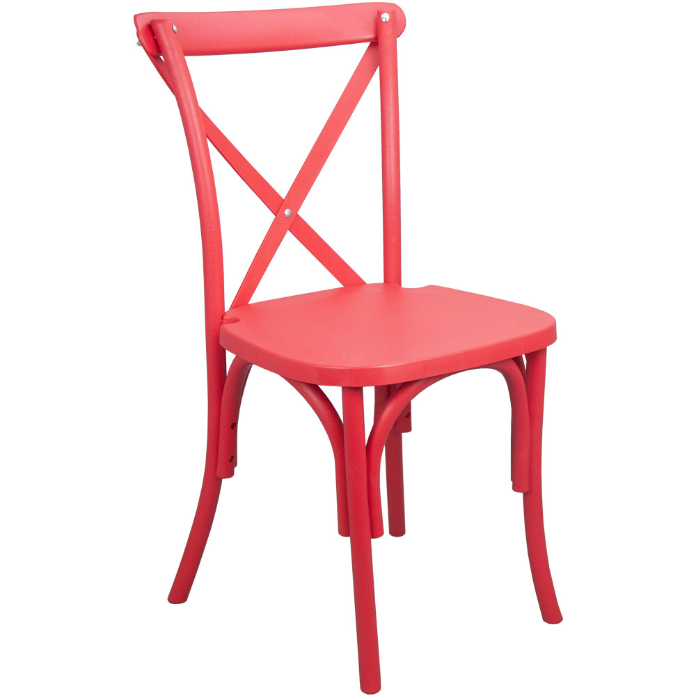 Resin Chairs Advantage Red Resin X Back Chair Resxb Red