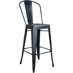 Chair Stool Black Covers Jcpenney Tolix Bar Finish Restaurant Barstools Image 1