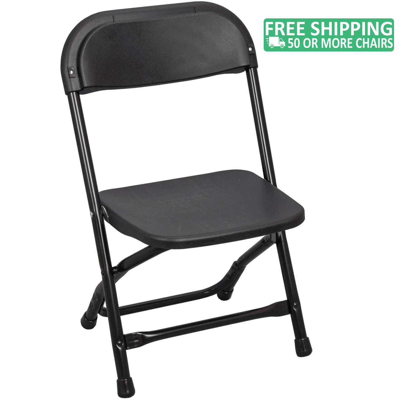 Plastic Kids Chairs Advantage Kids Black Plastic Folding Chair Ppfckid Black