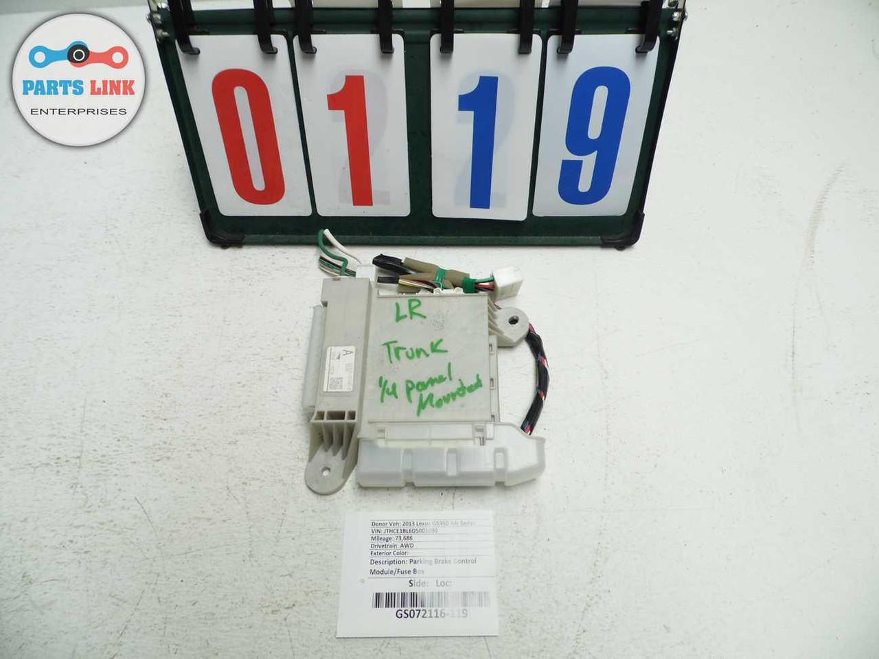 hight resolution of  lexus gs350 awd parking brake control module relay junction block fuse box oem image 1