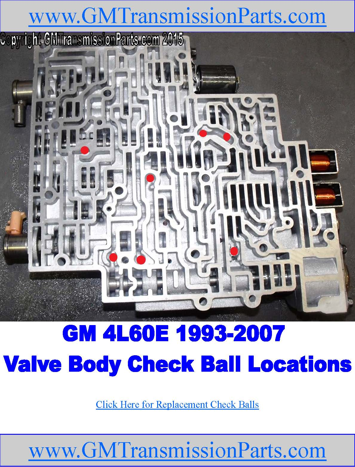 hight resolution of 4l60e valve body check ball locations