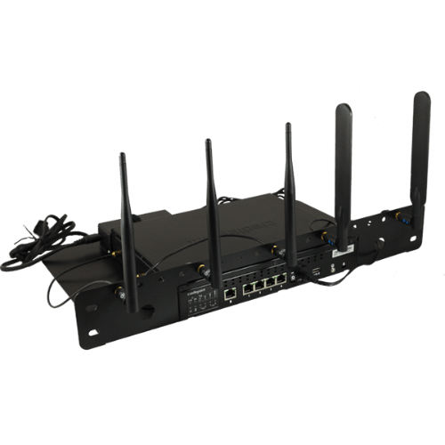 cradlepoint aer2100 rack mount with flexible antenna leads 170629 000