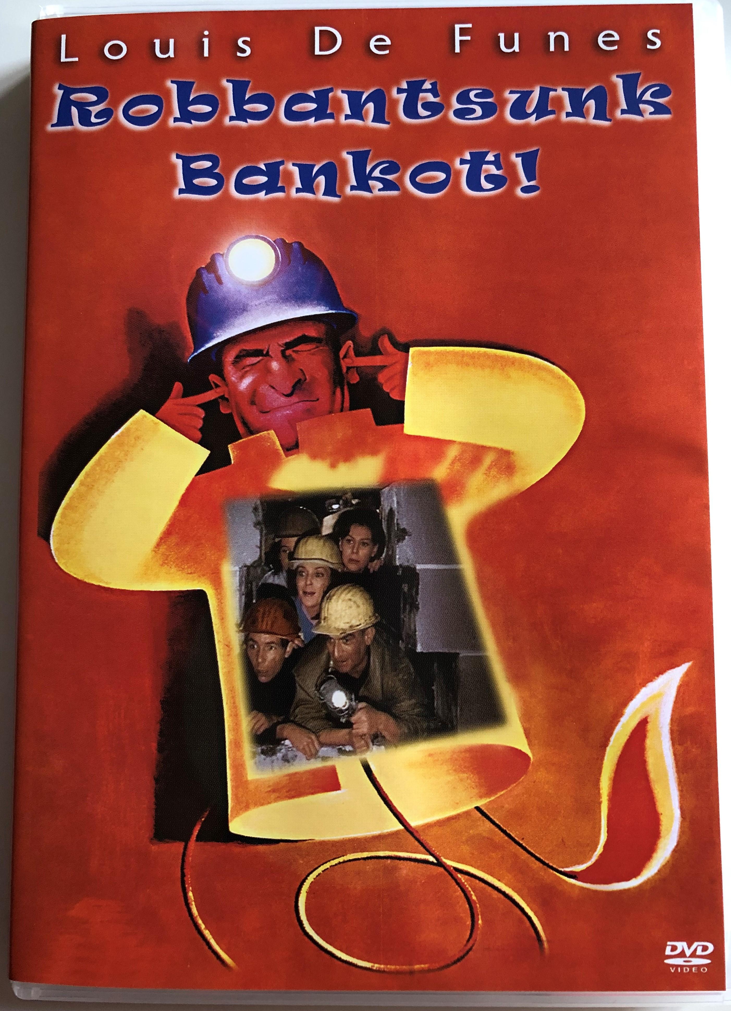 Faites Sauter La Banque ! : faites, sauter, banque, Faites, Sauter, Banque!, Robbantsunk, Bankot!, (Let's, Bank), Directed, Girault, Starring:, Louis, Funès,, Jean-Pierre, Marielle,, Yvonne, Clech, Bibleinmylanguage