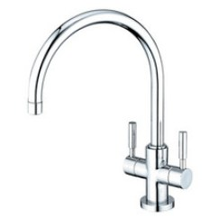 Two Handle Kitchen Faucet Base Cabinet Depth Faucets Kingston Brass Singe Hole Polished Chrome