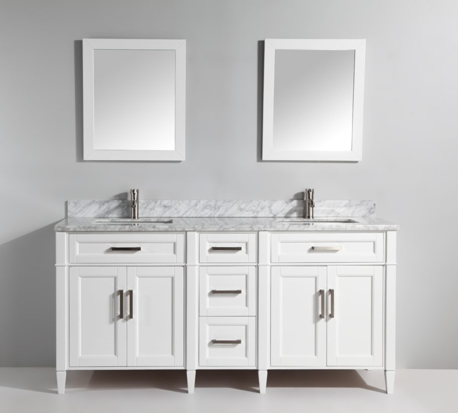 vanity art va2072dw 72 inch double sink vanity cabinet with carrara marble vanity top white