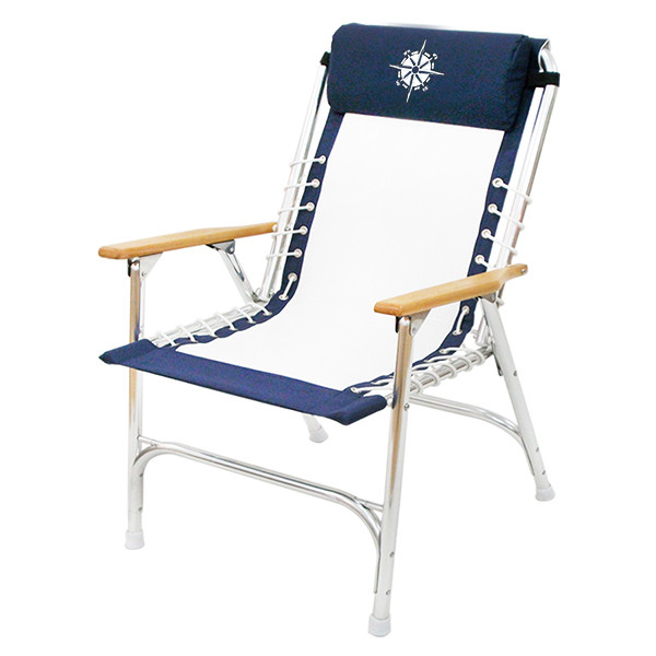 marine deck chairs black spindle chair navy white rope style wholesale