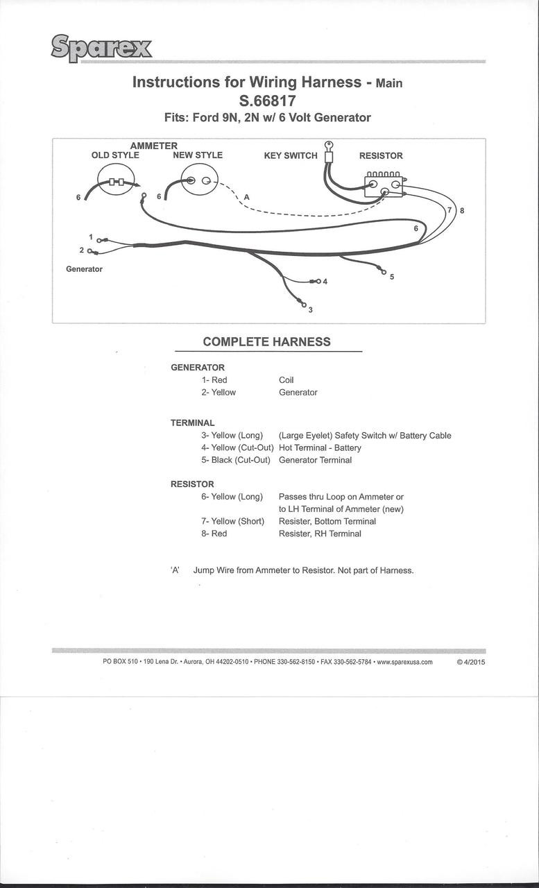 hight resolution of ford 9n 2n tractor main wiring harness larger more photos