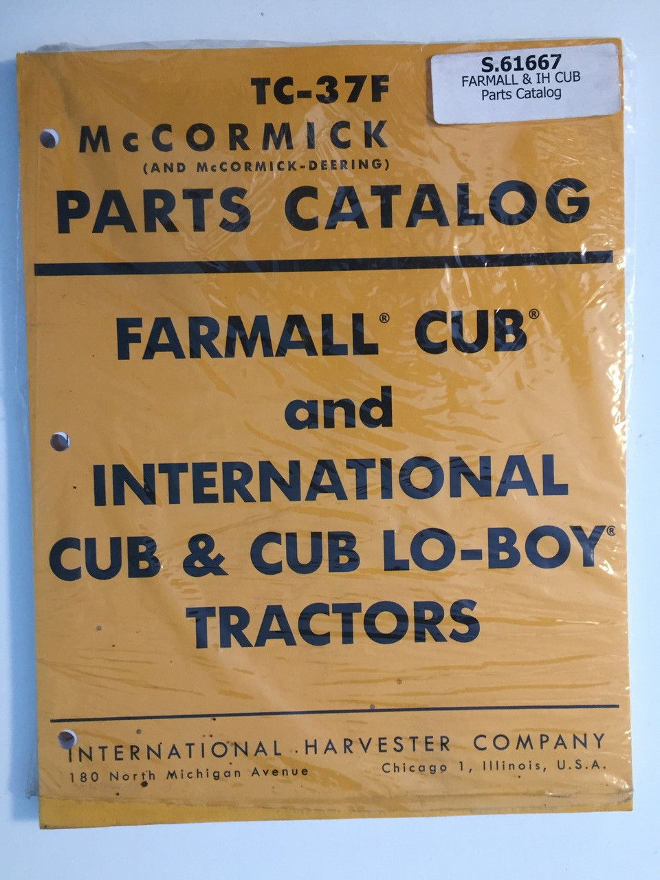 hight resolution of ih international cub cub lo boy tractor parts catalog
