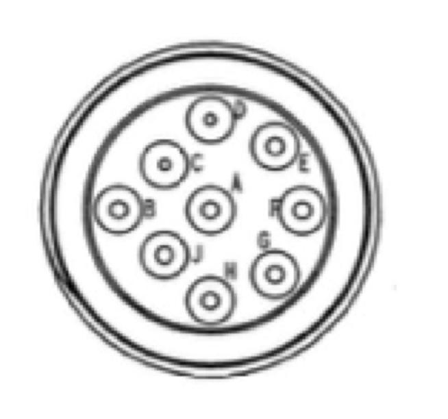 SAE J1939/13 Off-Board Diagnostic Connector Deutsch HD10-9