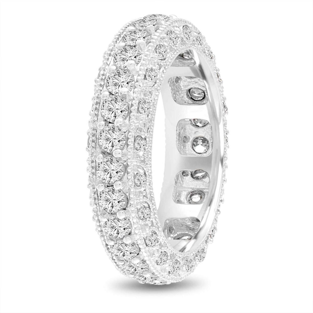 eternity diamond wedding ring mens diamond wedding band vintage wedding band 6 mm unique wedding band