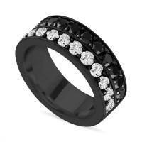 Black & White Diamond Mens Wedding Band, Vintage Diamond ...