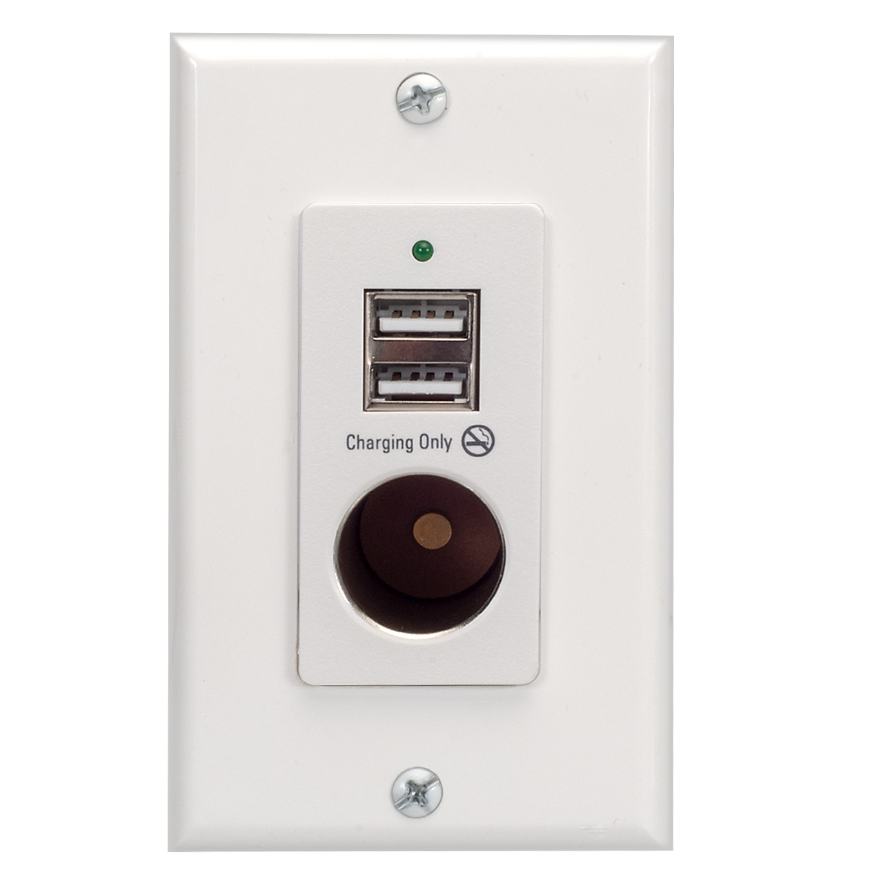 magnadyne wc 12v w wall mount usb charger with 2 ports and 12v [ 1280 x 1280 Pixel ]