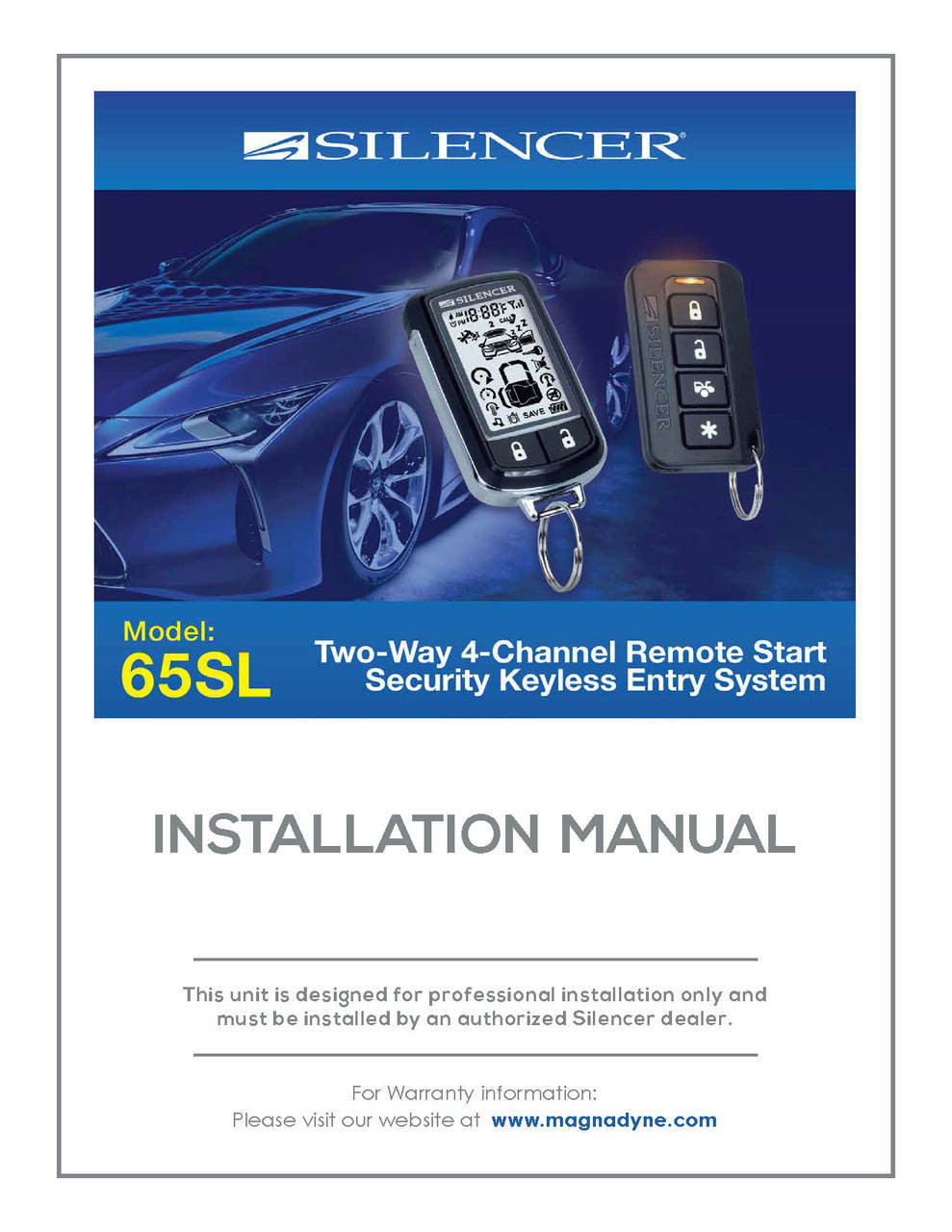 medium resolution of silencer 65sl installation manual silencer alarm wiring diagrams