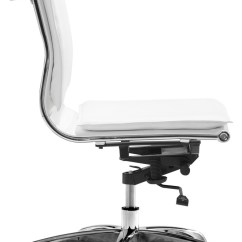 Modern White Desk Chair Cosco Zebra High Lider Plus Armless Office In Or Black Chairs Jpg