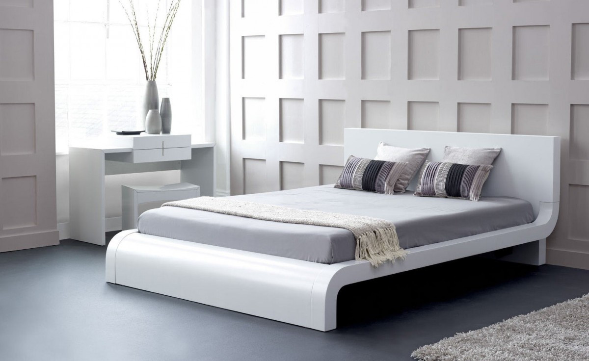 Zen Japanese Style Platform Bed Queen