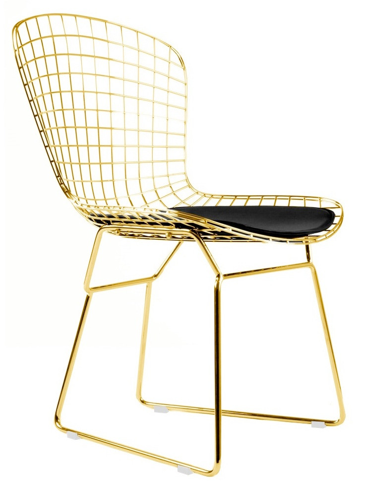 bertoia side chair used church chairs in gold
