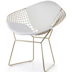 Diamond Chair Replica Sashes For Chairs Wedding Bertoia In Gold Categories