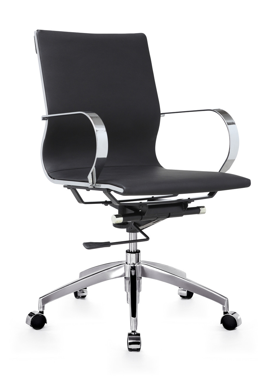 Low Back Office Chair Glider Low Back Office Chair Black By Zuo Modern