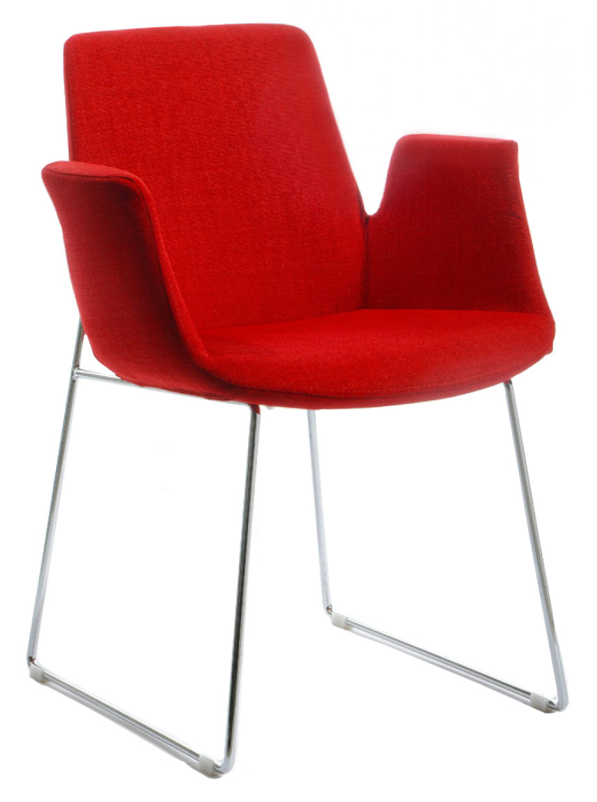 Red Upholstered Dining Chairs Mikah Red Upholstered Dining Chair