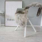 Genuine Rare Breed Scandinavian Pelssau Sheepskin Rug Extremely Soft Silky Wool Silver Grey Ash Brown Mix Ss 225